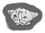 Cute cats in sketches (N.1) by trikono sticker #12602500