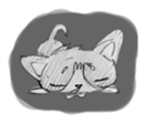 Cute cats in sketches (N.1) by trikono sticker #12602502