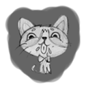 Cute cats in sketches (N.1) by trikono sticker #12602504