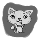 Cute cats in sketches (N.1) by trikono sticker #12602505