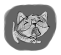 Cute cats in sketches (N.1) by trikono sticker #12602506