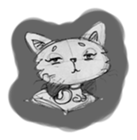 Cute cats in sketches (N.1) by trikono sticker #12602507