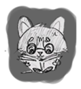 Cute cats in sketches (N.1) by trikono sticker #12602510