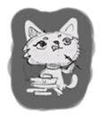 Cute cats in sketches (N.1) by trikono sticker #12602511