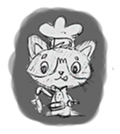 Cute cats in sketches (N.1) by trikono sticker #12602512