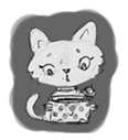 Cute cats in sketches (N.1) by trikono sticker #12602513