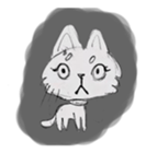 Cute cats in sketches (N.1) by trikono sticker #12602515