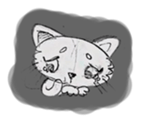 Cute cats in sketches (N.1) by trikono sticker #12602517