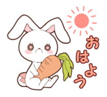 Sticker of the tail ribbon rabbit sticker #12602558