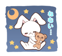 Sticker of the tail ribbon rabbit sticker #12602560