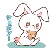 Sticker of the tail ribbon rabbit sticker #12602567