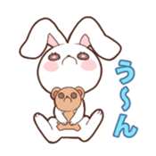 Sticker of the tail ribbon rabbit sticker #12602583