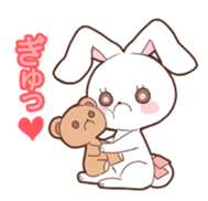Sticker of the tail ribbon rabbit sticker #12602587