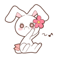 Sticker of the tail ribbon rabbit sticker #12602596