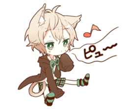 NEKOMIMI boy sticker sticker #12613387