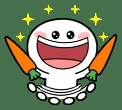 """Smile Person """"Carrot"""" sticker #12617022"""