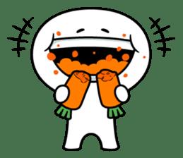 """Smile Person """"Carrot"""" sticker #12617026"""
