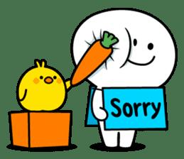 """Smile Person """"Carrot"""" sticker #12617035"""