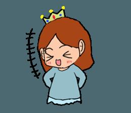 Princess Sticker 1 sticker #12618874
