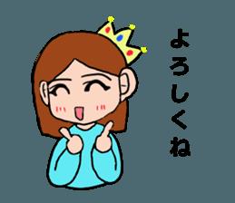 Princess Sticker 1 sticker #12618880