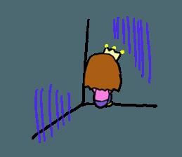 Princess Sticker 1 sticker #12618885