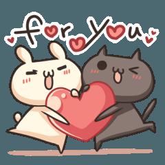 Shiro the rabbit & kuro the cat Part4