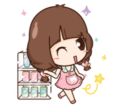 Cute little Merchant beauty shop.+ sticker #12635278