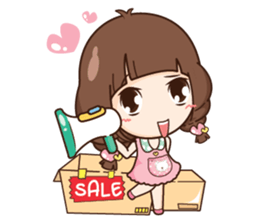 Cute little Merchant beauty shop.+ sticker #12635281