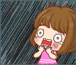 Cookie little girl skittish + sticker #12636528