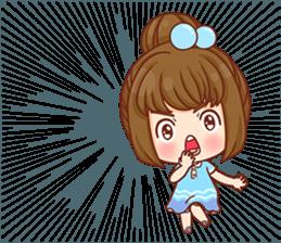 Cookie little girl skittish + sticker #12636529