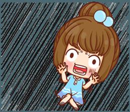Cookie little girl skittish + sticker #12636531