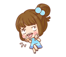Cookie little girl skittish + sticker #12636547