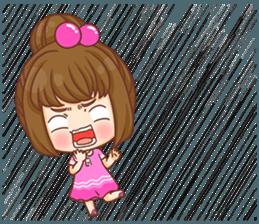 Cookie little girl skittish + sticker #12636565