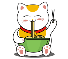 Kawaii Neko The Lucky Cat sticker #12643584