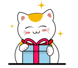 Kawaii Neko The Lucky Cat sticker #12643585