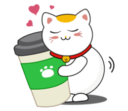 Kawaii Neko The Lucky Cat sticker #12643594