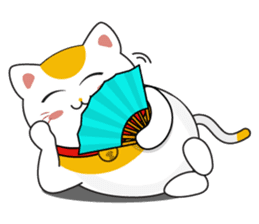 Kawaii Neko The Lucky Cat sticker #12643596