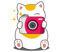 Kawaii Neko The Lucky Cat sticker #12643604