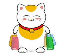 Kawaii Neko The Lucky Cat sticker #12643616