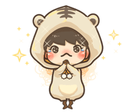 Pajamas little boy sticker #12643666