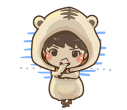 Pajamas little boy sticker #12643675