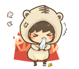 Pajamas little boy sticker #12643684
