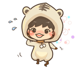 Pajamas little boy sticker #12643688
