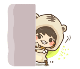 Pajamas little boy sticker #12643690