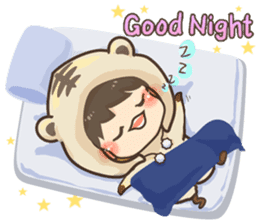 Pajamas little boy sticker #12643701