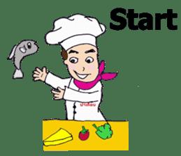 Bloody and crazy Kitchen sticker #12645747