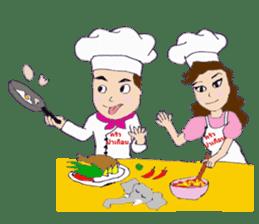 Bloody and crazy Kitchen sticker #12645756