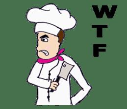 Bloody and crazy Kitchen sticker #12645759