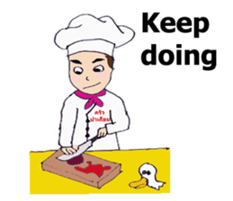 Bloody and crazy Kitchen sticker #12645761