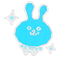 """(w1) Soft rabbit, """"Munyu Usa"""" sticker #12648674"""